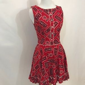 Vintage red cowgirl circle dress